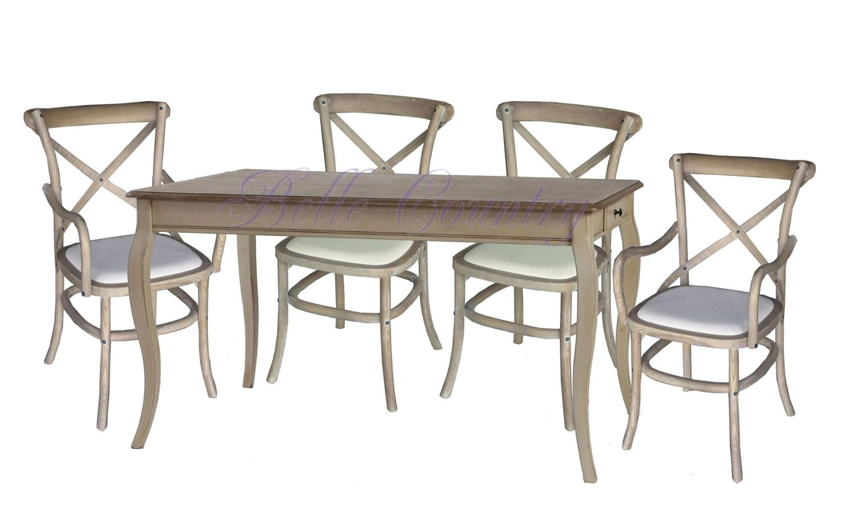Стол-обеденный-H812-4-стула-K886-2-кресла-K885-Цвет-D-68-Grey-Серо-бежевый-собран.-2