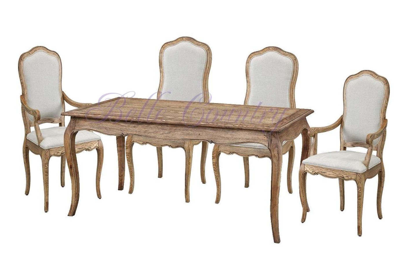 2-Комплект-Стол-обед.-KFD007-7-2кресла-KFD007-20-4стула-KFD007-21-цвет-natural-oak-собран