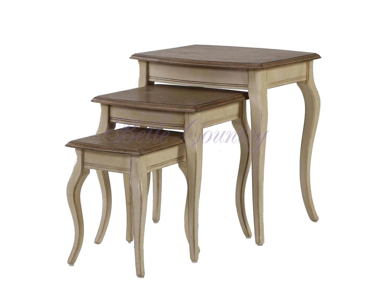 H801-Комплект-столиков-52x45x56-Цвет-D-68-Grey-Серо-бежевый-собран